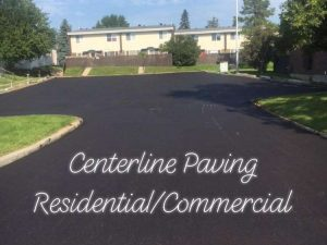 edmonton parking lot paving - completed blacktop commercial pave project