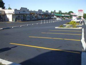 parking lot maintenance edmonton - asphalt lot clean with lines