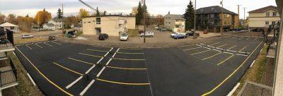 commercial asphalt paving edmonton - completed project