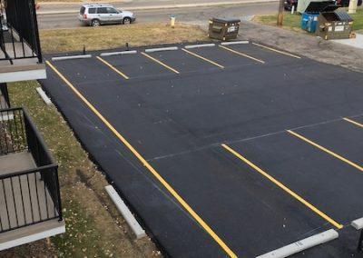 edmonton asphalt paving - overhead view parking lot